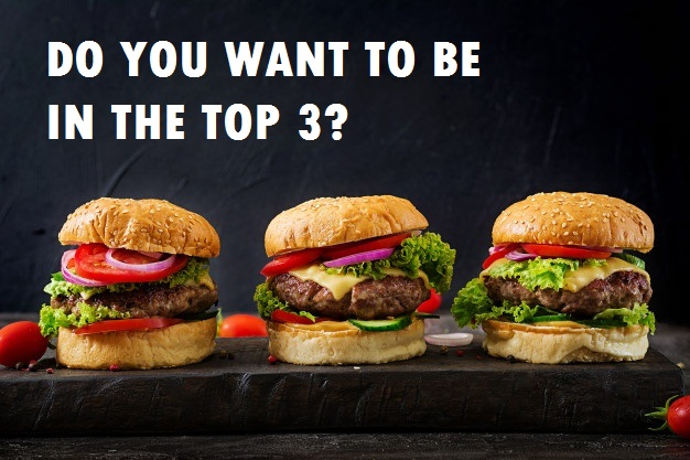 top three burgers