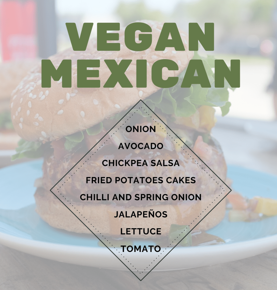 New healthy burger prime: Vegan Mexican