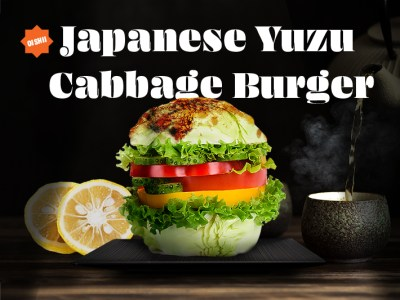 Feature image of the Healthy Japanese burger recipe