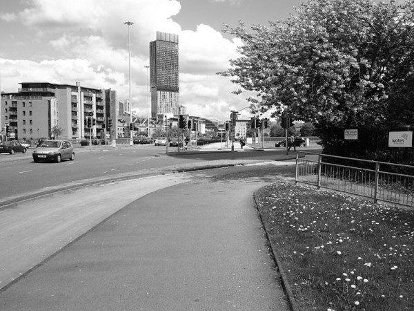 Beetham Tower in black and white.  ©2010 Jason Hindle