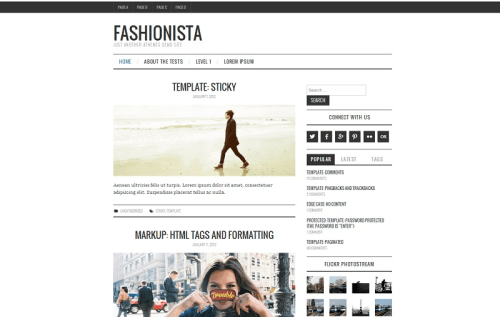 Fashionista - Just Another aThemes Demo Site