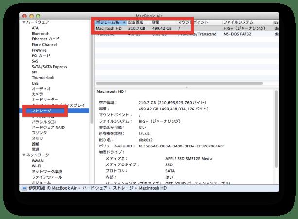 Macのストレージ容量の調べ方