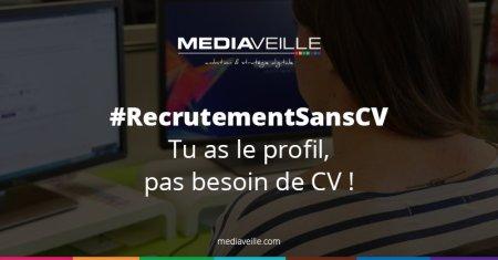 Ça recrute sans CV chez @Mediaveille ! Nous recrutons un webmarketeur et un réfé...