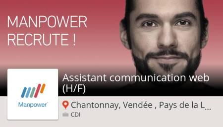 Découvrez ce #job : Assistant #communication #web (H/F) chez #ManpowerFrance (#C...