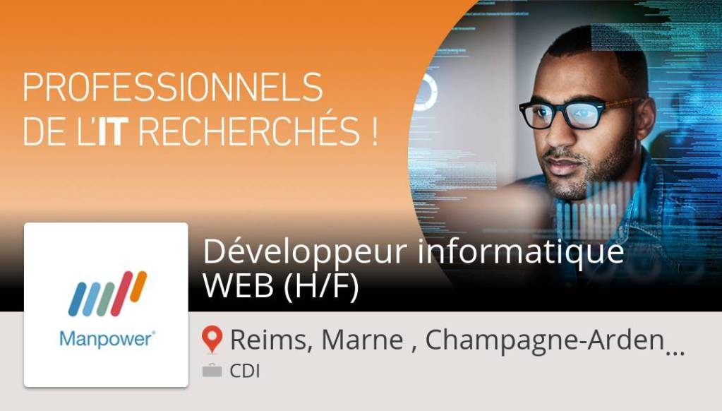 #ManpowerFrance recrute un(e) Développeur #informatique #WEB (H/F) #ReimsMarneCh...