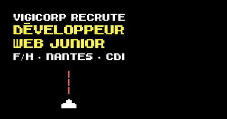 {#RECRUTEMENT #DEV}  @Vigicorp recherche un DÉVELOPPEUR WEB JUNIOR (F/H)   Plu...
