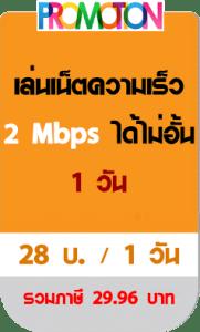เน็ตทรู รายวัน 2 mbps