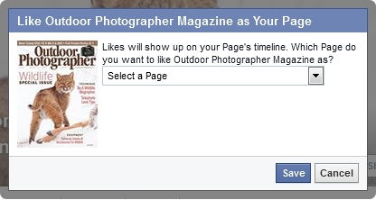 Facebook Like as Your Page feature