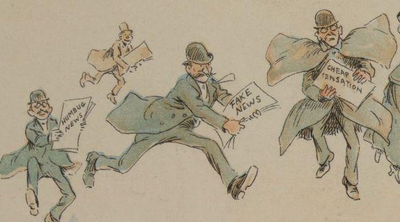 Fake News cartoon by Frederick Burr Opper