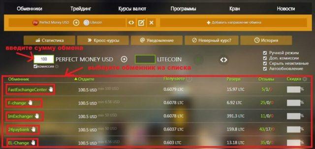 Анализ обменников