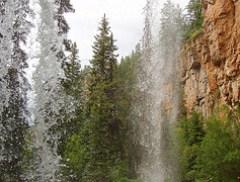 Behind Bridal Veil Falls