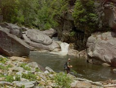 Falls on Linville River Above Conley Cove
