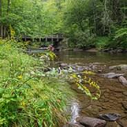 Deep Creek foot bridge