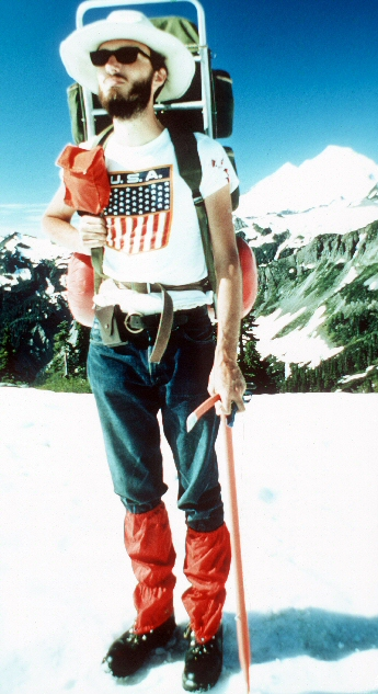 Ron Strickland on Mt. Baker 1972