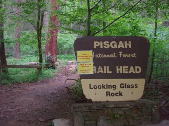Looking Glass Rock trailhead