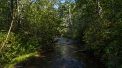 River from suspension bridge