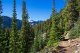 Trail hugs the ridge