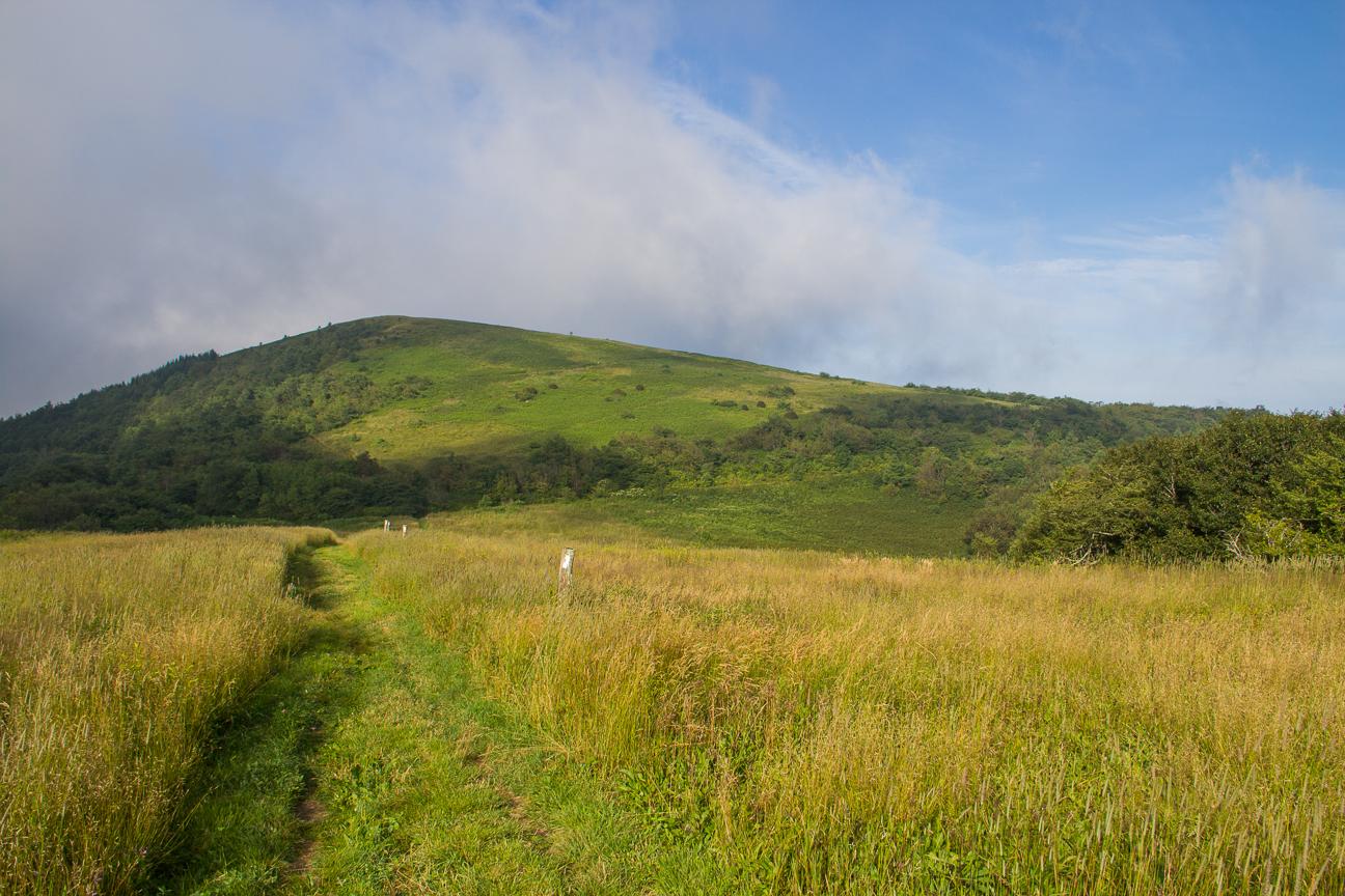 The Appalachian Trail straddles the NC/Tenn. state line at Big Bald