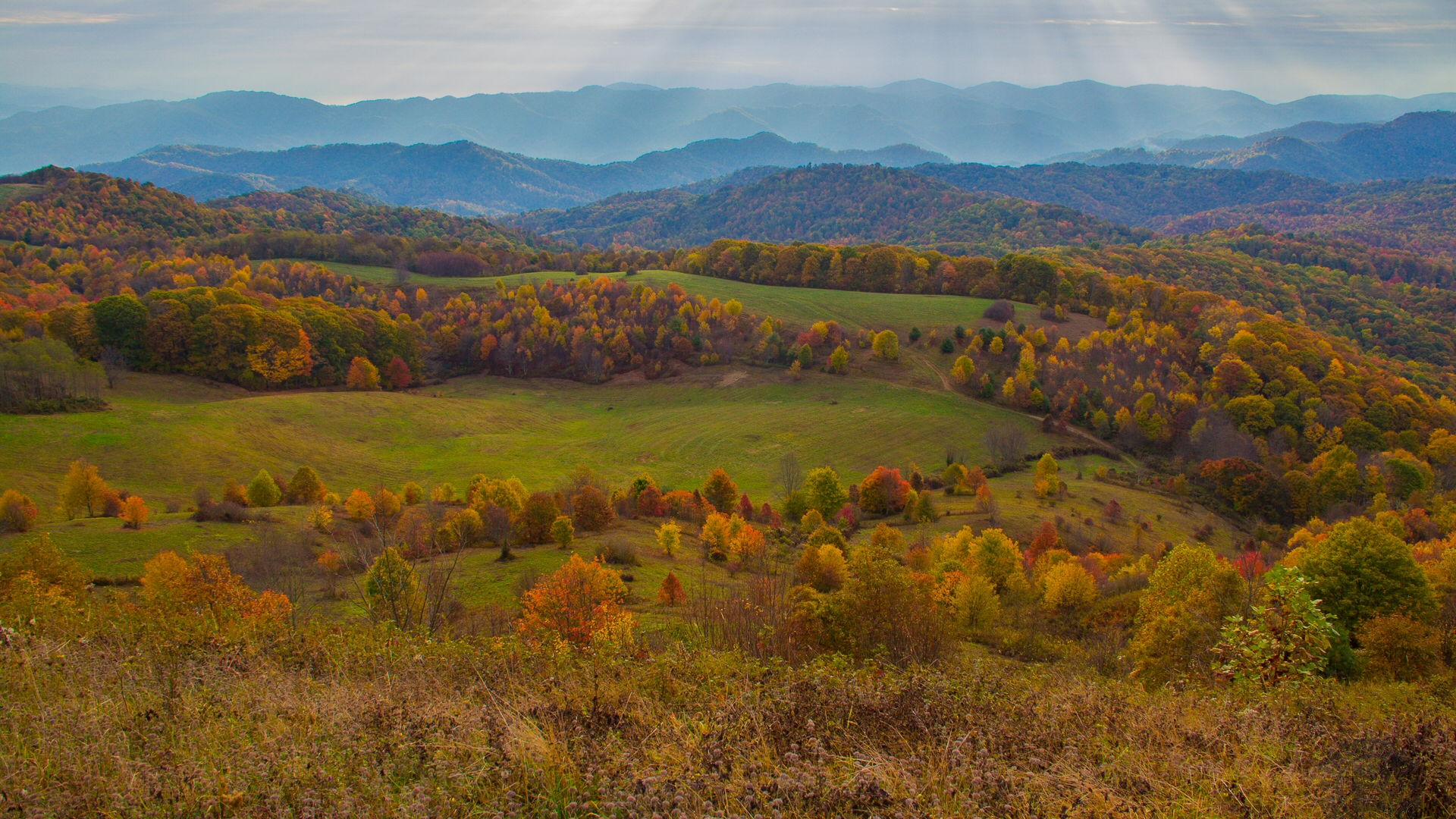 Buckeye Ridge from Max Patch on the Appalachian Trail - Photo by Jeff Clark