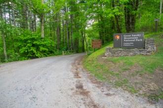 Entrance at Cataloochee Divide