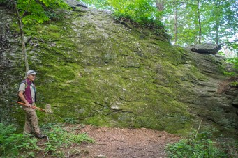 House-sized outcrop