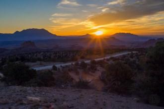 Sunrise on Burr Trail Rd.
