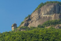 Chimney Rock from the village