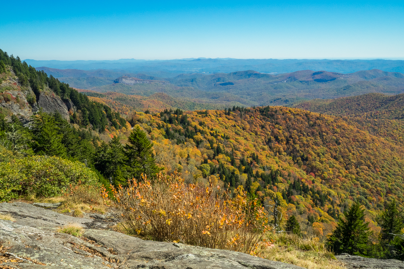 This is the view to the east from Chestnut Bald overlook. I think it's one of the best around.