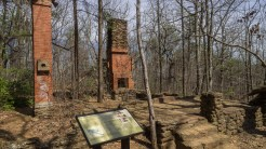 Fire tower house ruins