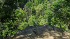 The falls overlook