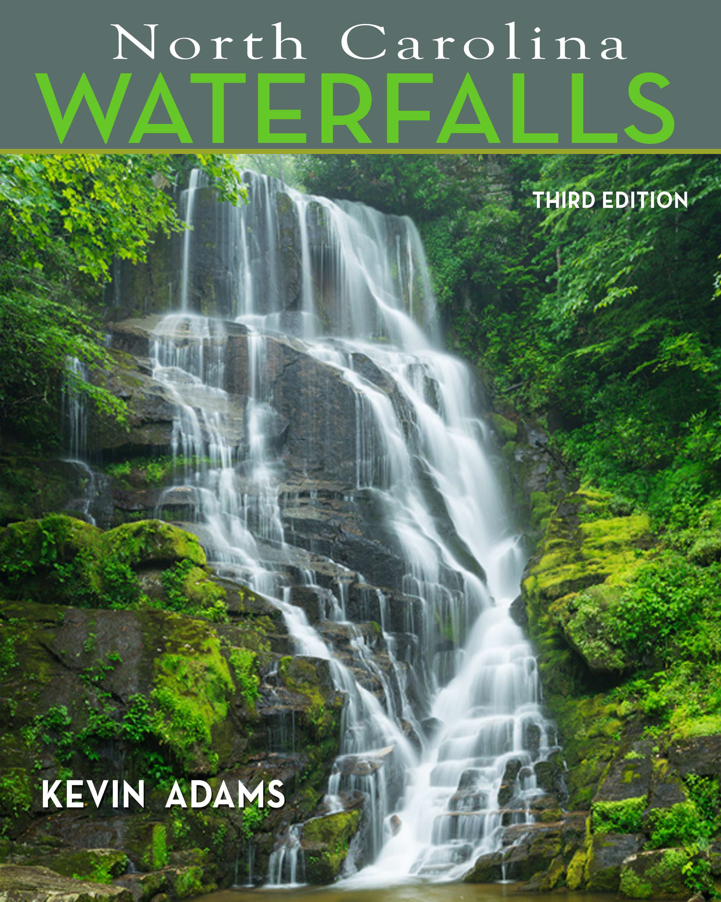 Kevin Adams' North Carolina Waterfalls book cover.