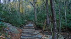 Footbridge across Alum Cave Creek