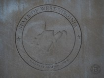 Engraved state motto