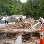 Flood Damage Repair at Linville Falls