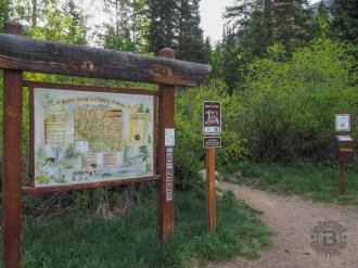 Trailhead on Bighorn Rd.
