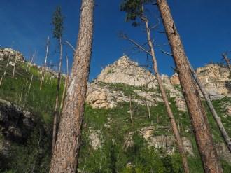 Steeper canyon walls