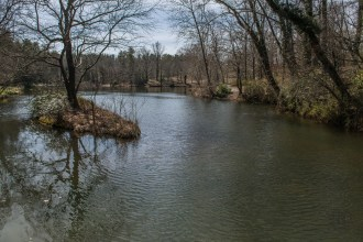 Bass pond from boathouse