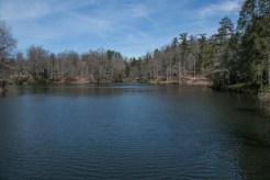 Bass pond from dam