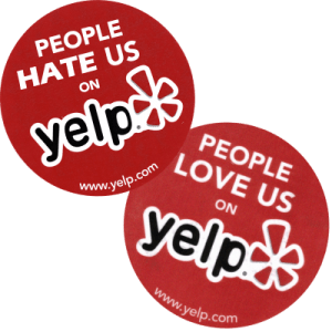 Yelp love hate