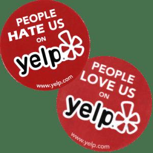 Yelp love hate