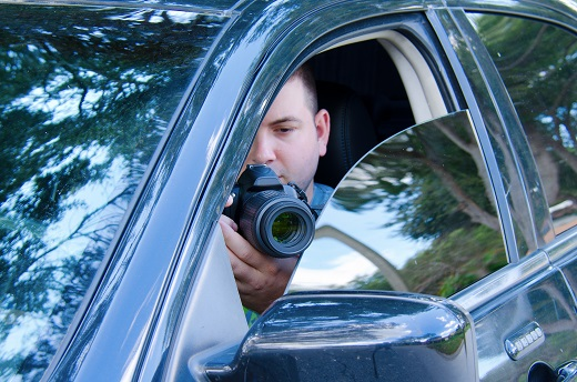 Private investigator stakeout photo documentation