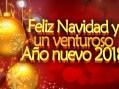 Feliz Navidad y un próspero y venturoso 2018