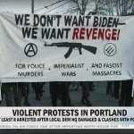 Törtek, zúztak a Biden ellen tüntető antifák