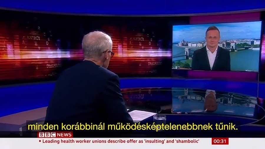 Szijjártó Péter a BBC HARDtalk-ban 📺