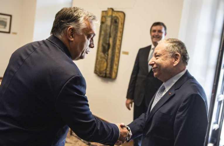 F1 – Orbán Viktor fogadta a FIA elnökét