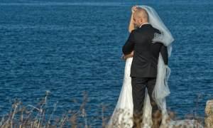 Brautpaar am Meer