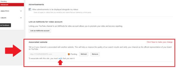 Paste Website URL >> Add >> Verify