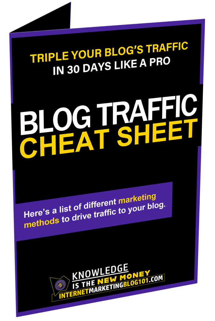 Blog Traffic Cheat Sheet FREE DOWNLOAD