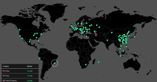 Peta realtime serangan virus Wannacry