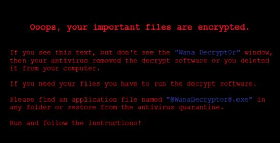 Ciri-ciri serangan virus Wannacry Ransomware